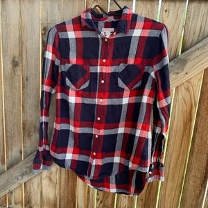 Merano plaid checkered flannel button up small